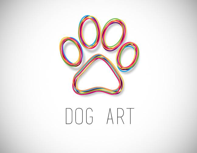 dog art logo