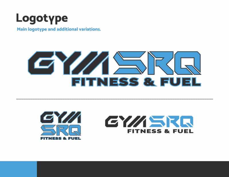 gym srq branding