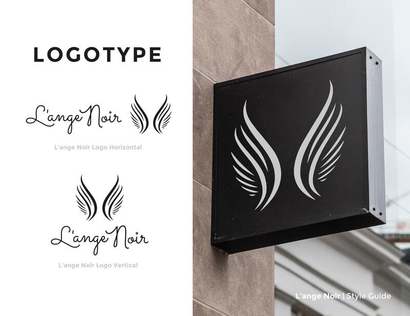 l'ange noir branding